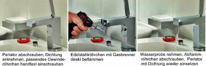 protokoll thermische desinfektion trinkwasser