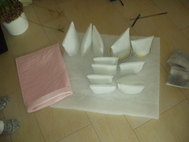Abluftfilter selbstgenäht damit das kanalsystem sauber bleibt