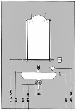 auf welcher h he wird das abwasserrohr beim waschtisch montiert badezimmer sanit r. Black Bedroom Furniture Sets. Home Design Ideas