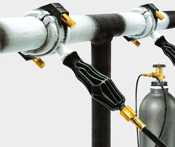 Wasserleitung vereisen